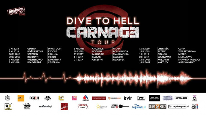 Koncert: Carnage / It Follows / Taroth II
